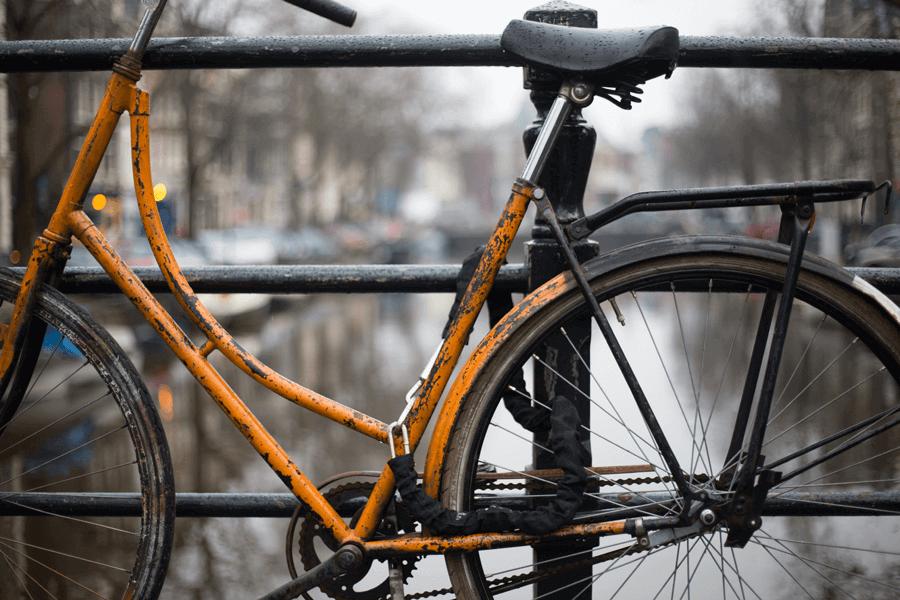 fiets op slot