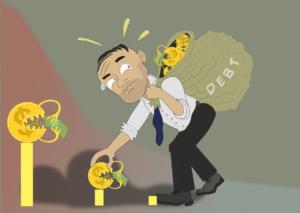 studenten met een studieschuld